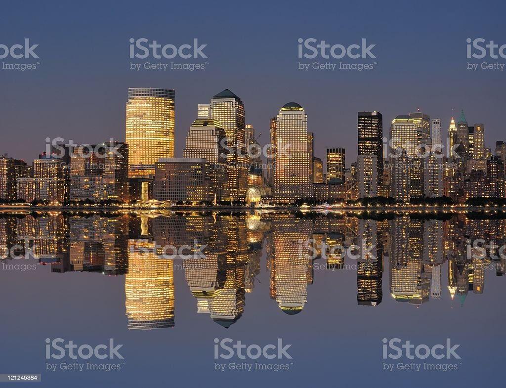 West side of Manhattan stock photo
