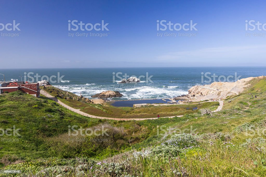 West side of San Francisco at Sutro Baths stock photo