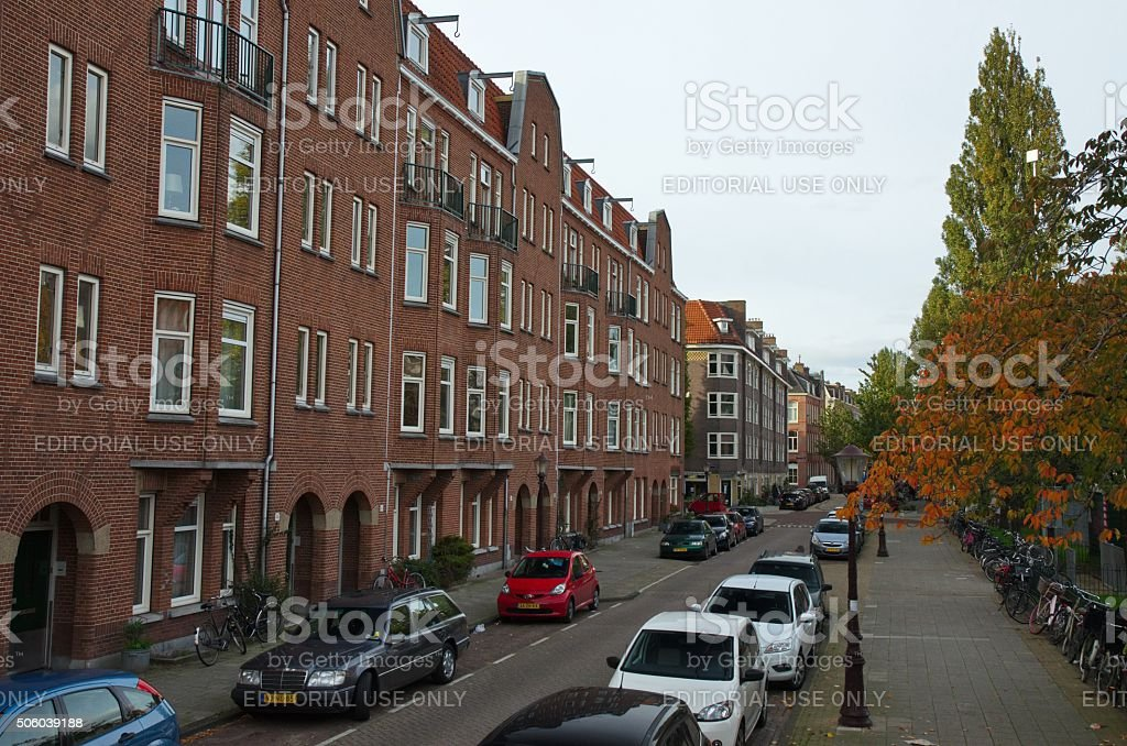 West side of the Henrick de Keiserplein stock photo