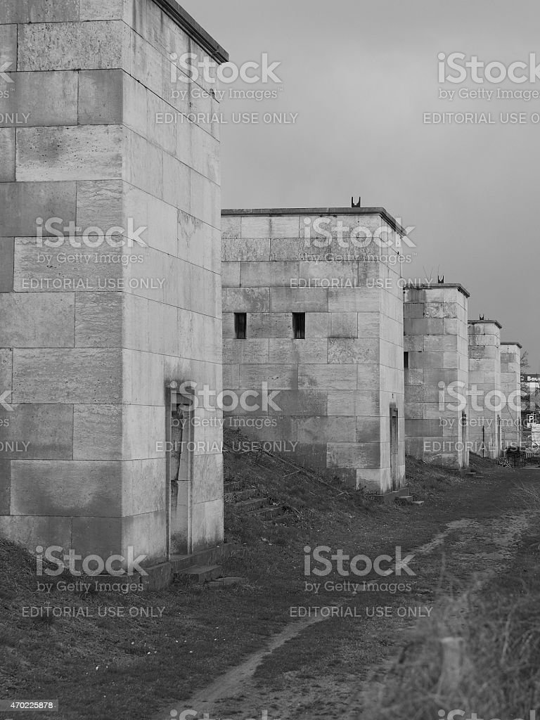 West side towers of the former Nazi Party rally grounds stock photo