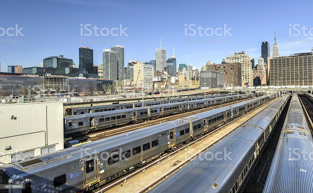 West Side Train Yard stock photo