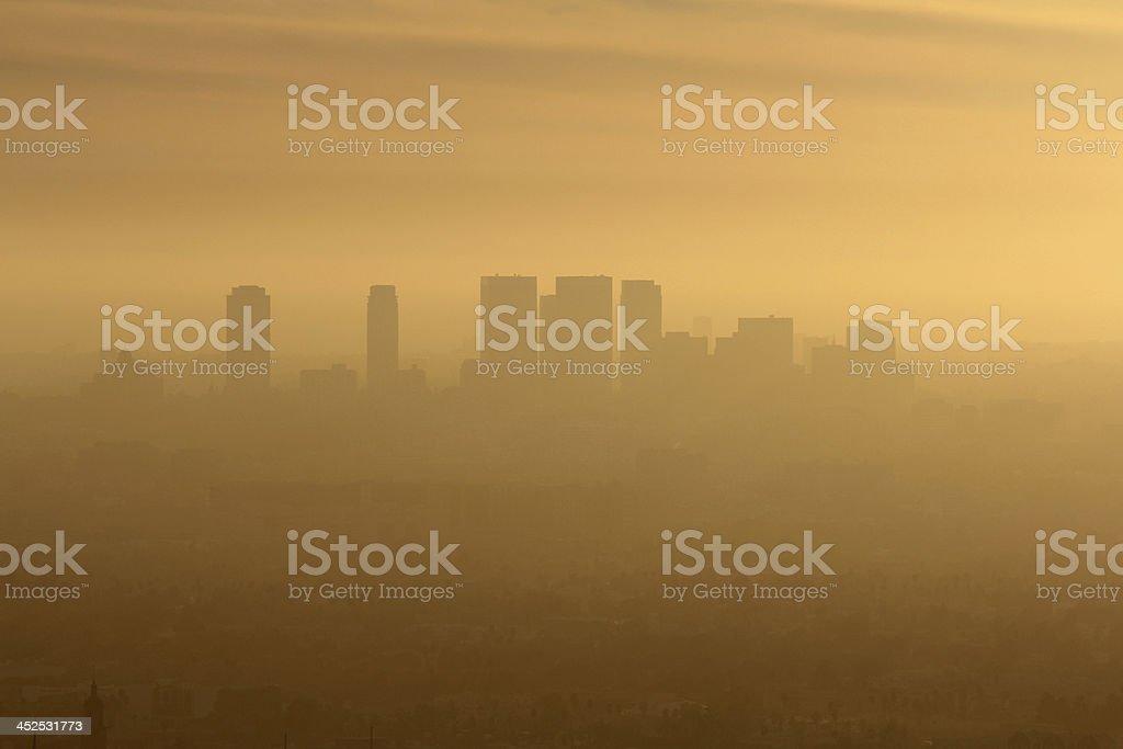 West LA Smog stock photo