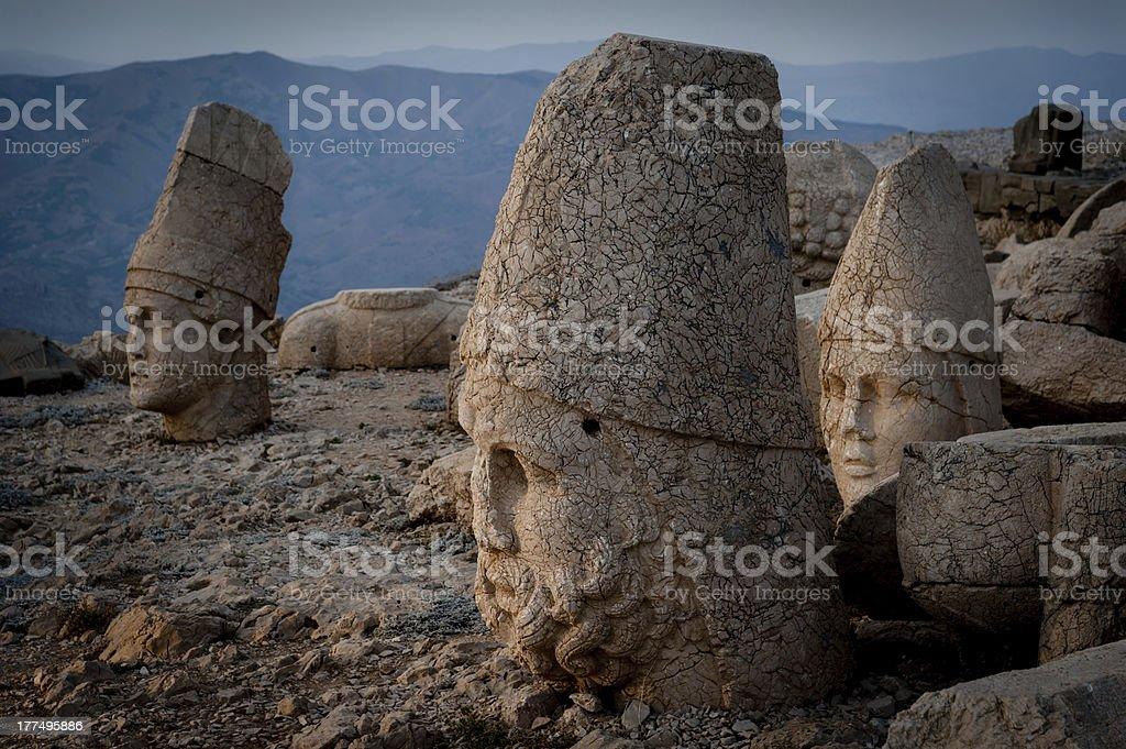 West terrace of Mount Nemrut. royalty-free stock photo