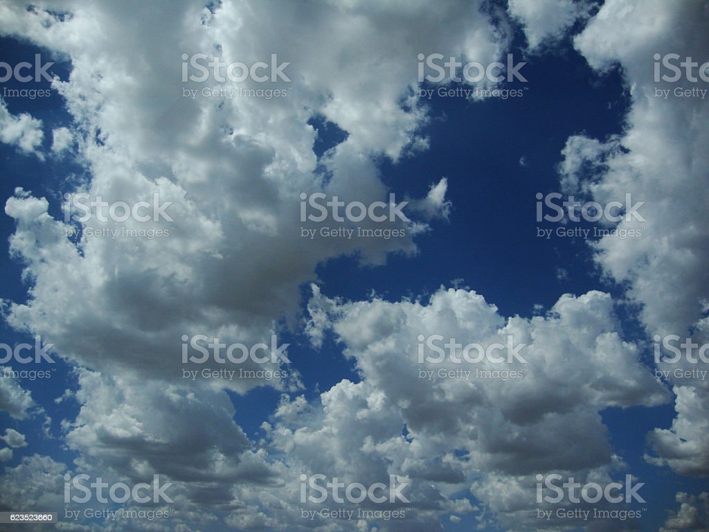 west texas blue sky stock photo