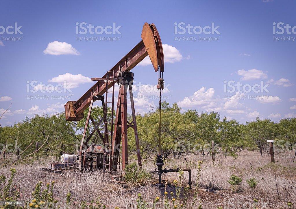 West Texas Pump Jack royalty-free stock photo
