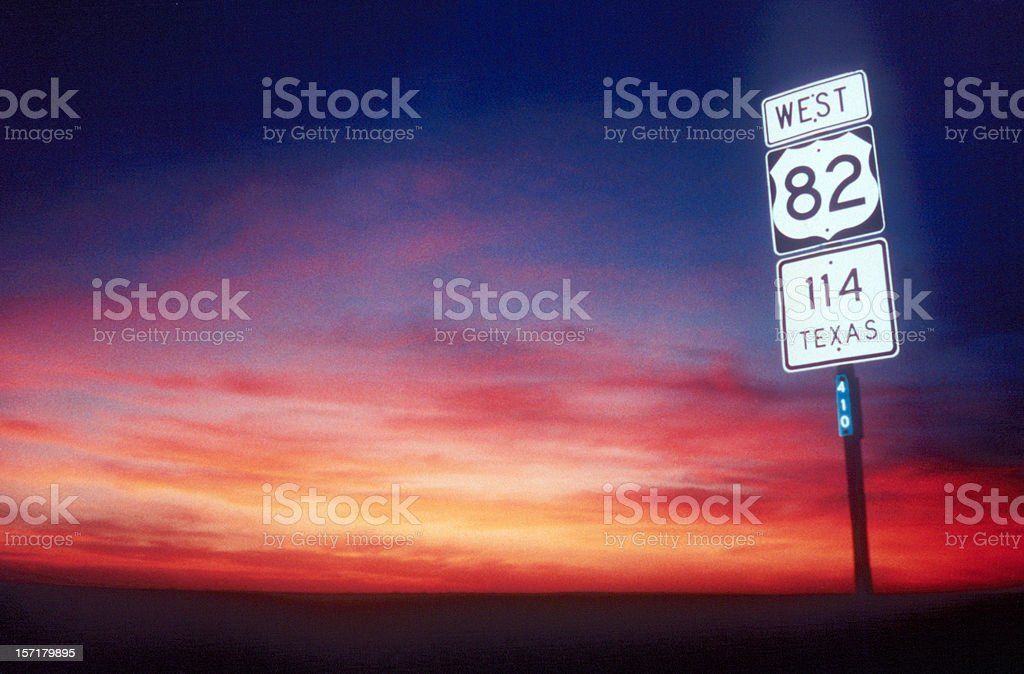 West Texas Sunset royalty-free stock photo