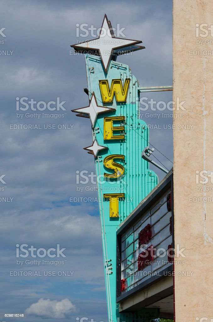 West Theater on Route 66 stock photo