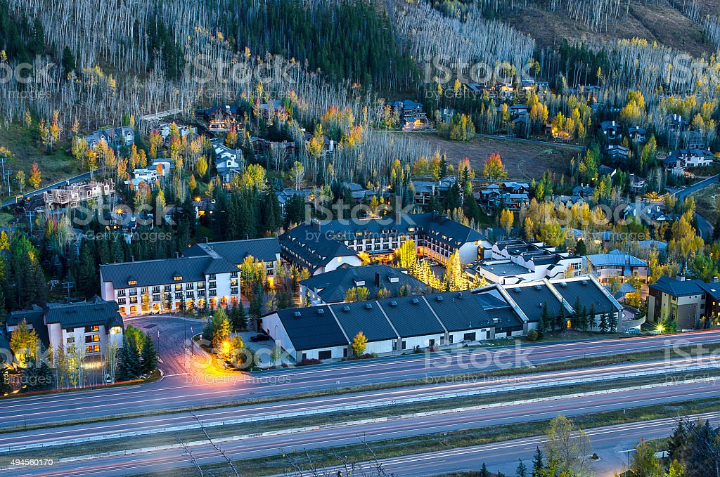 West Vail, Colorado in the Rocky Mountains stock photo