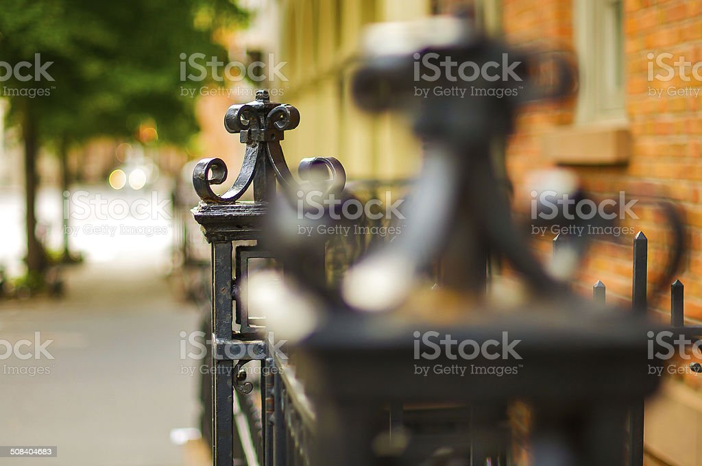 West Village Fence stock photo