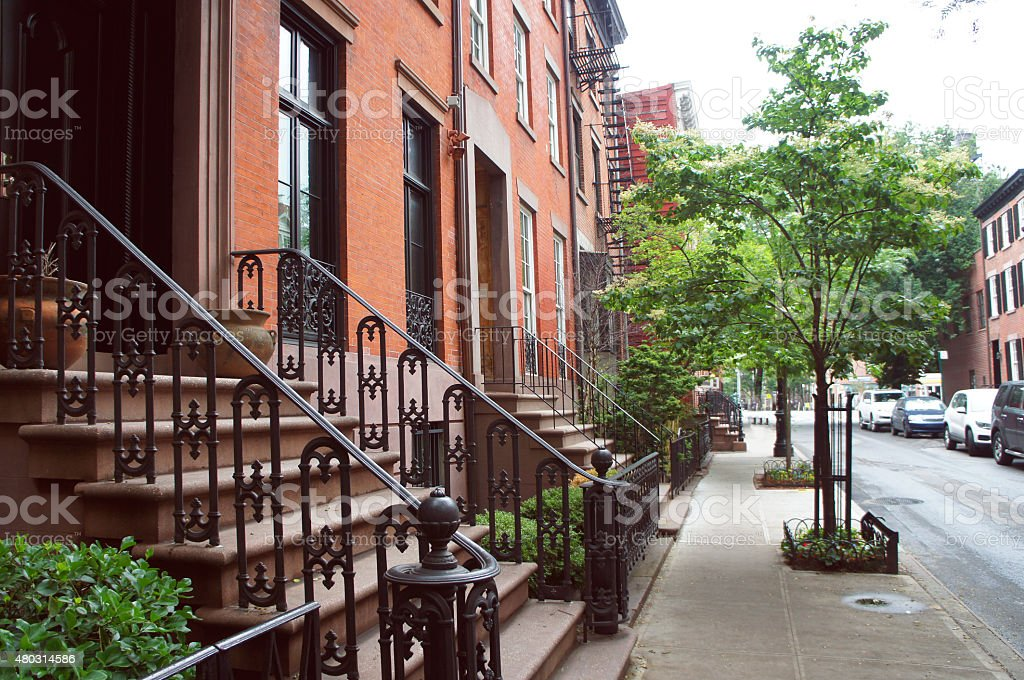 West village historic district of New York stock photo
