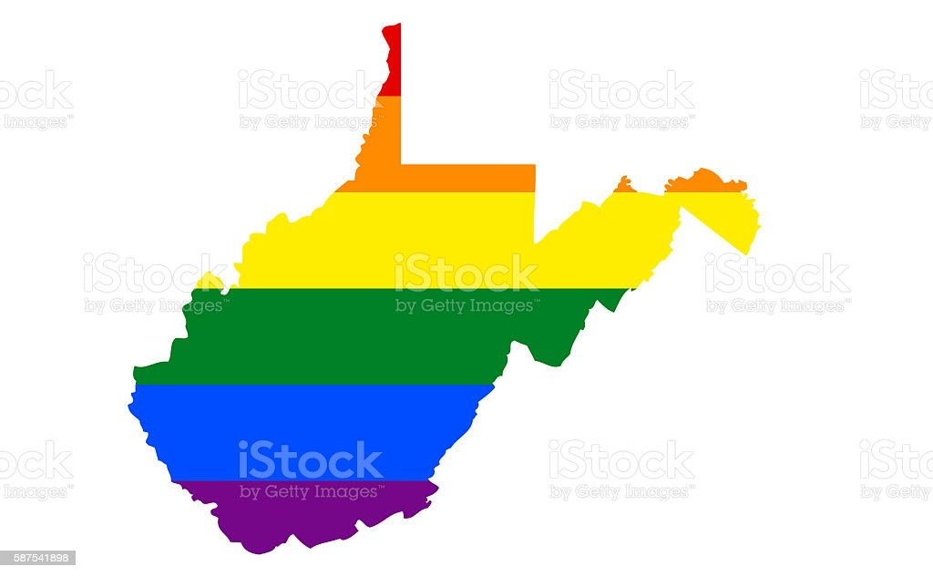 West Virginia Gay Pride State stock photo
