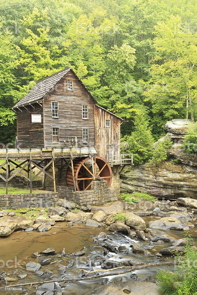 West Virginia Grist Mill stock photo