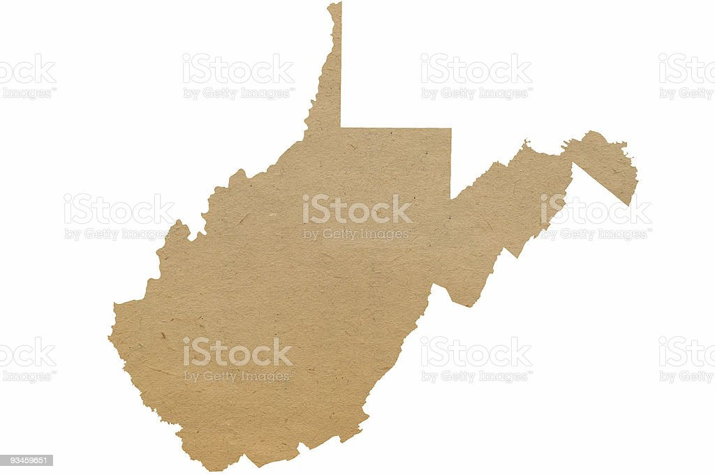 West Virginia Recycles stock photo