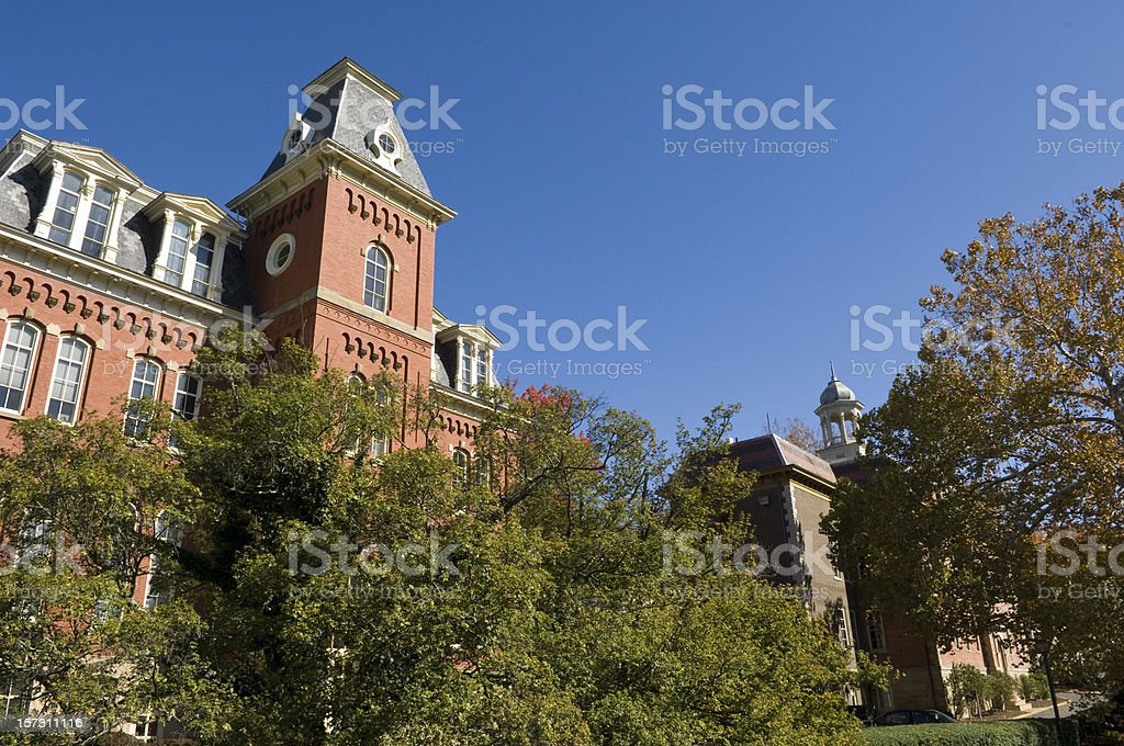 West Virginia University, Morgantown Campus royalty-free stock photo