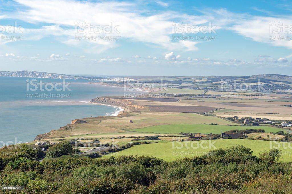 West Wight landscape capture stock photo