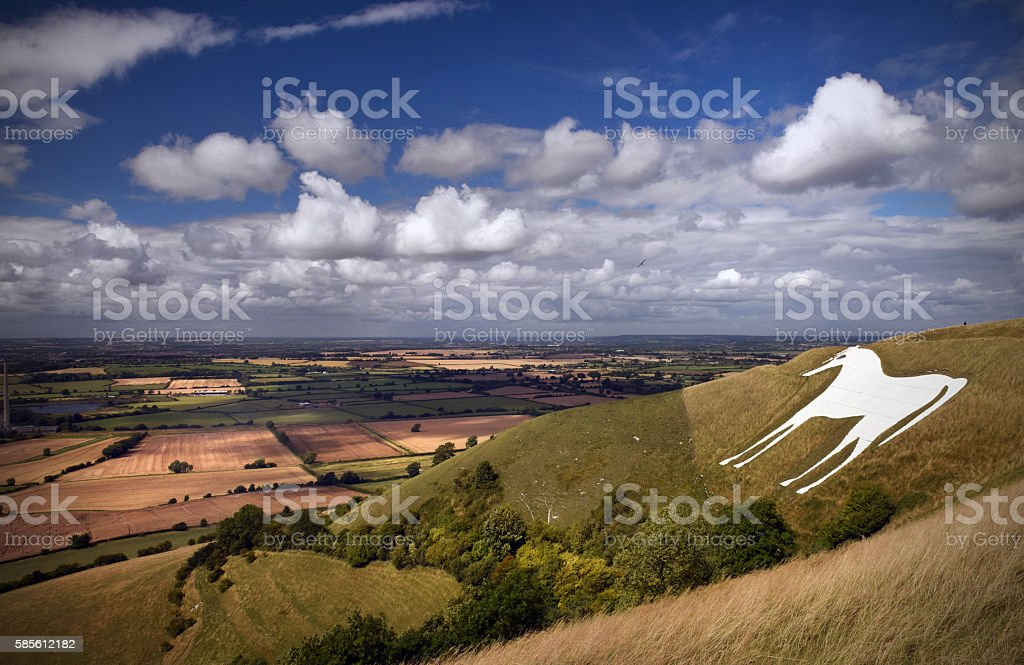Westbury White Horse stock photo