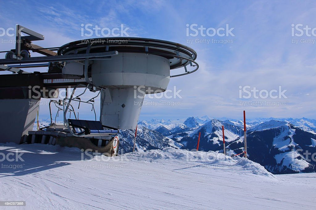 Westendorf SkiWelt in Kitzbühler Alpen - Lift, Austria stock photo