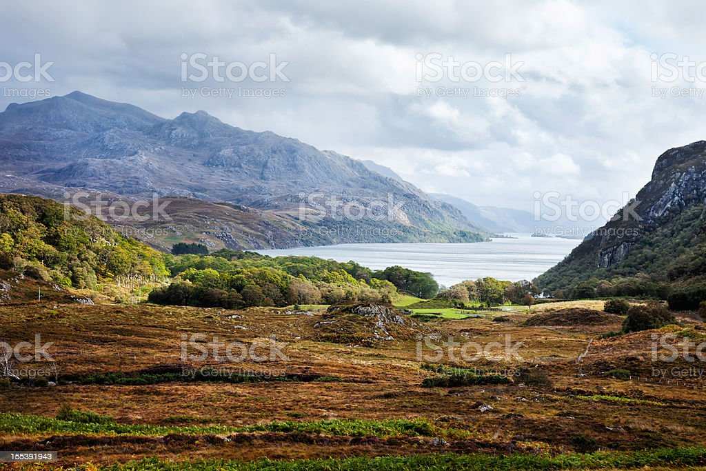 Wester Ross coast landscape stock photo