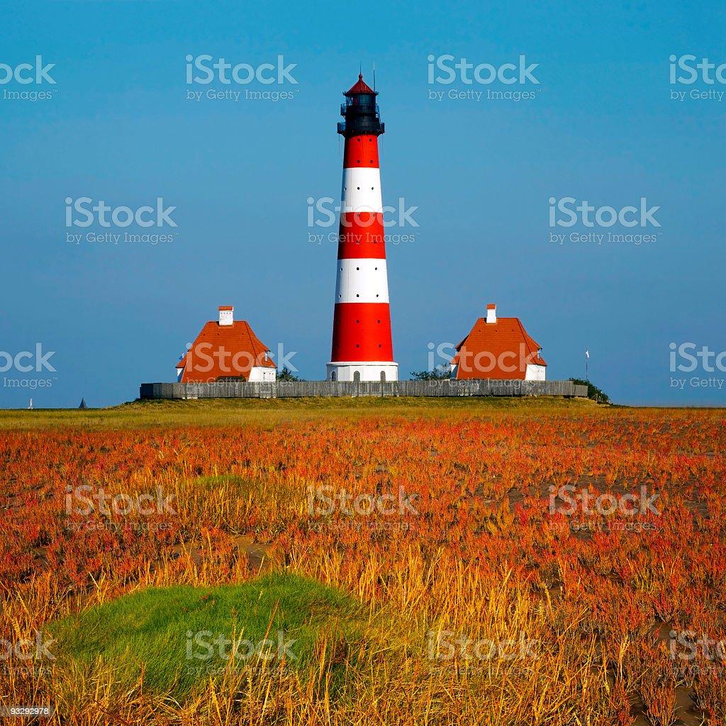 Westerhever Leuchtturm stock photo