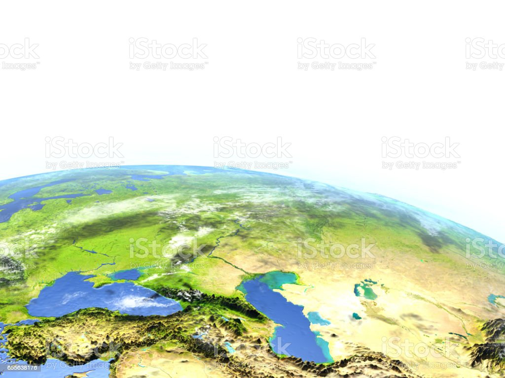 Western Asia on planet Earth stock photo