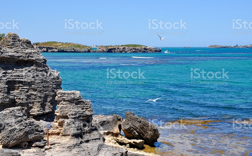 Western Australia: Indian Ocean at Rocky Cape Peron stock photo