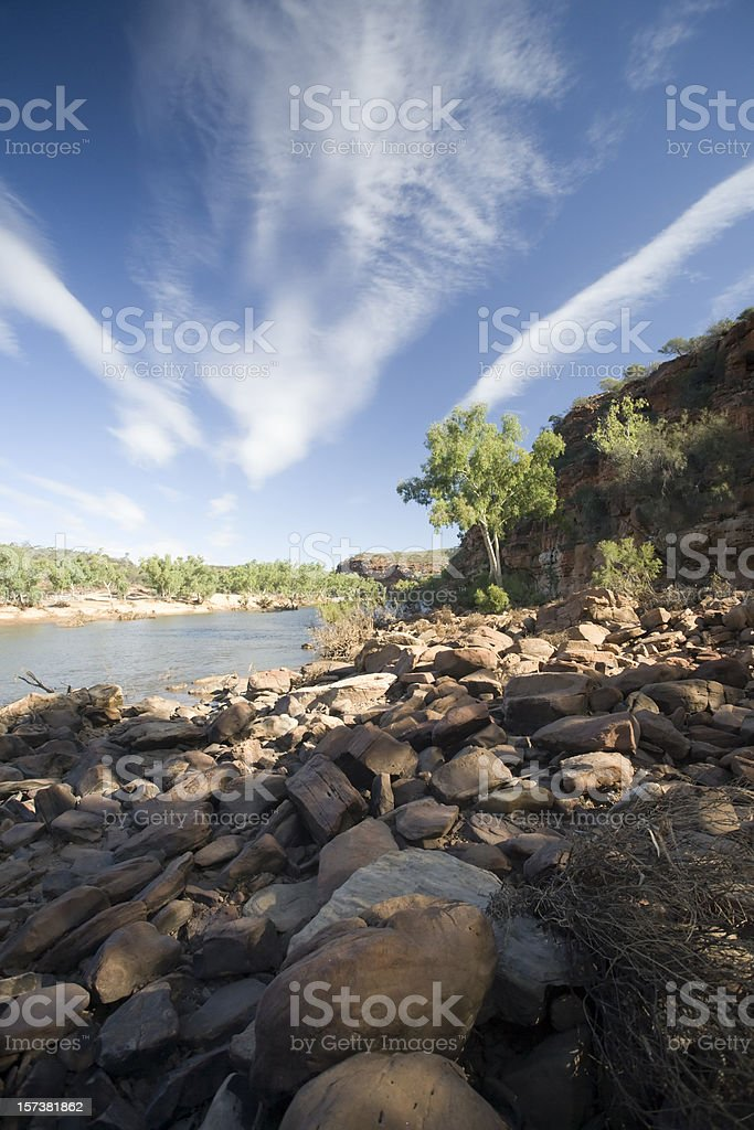 Western Australia - river scenic stock photo