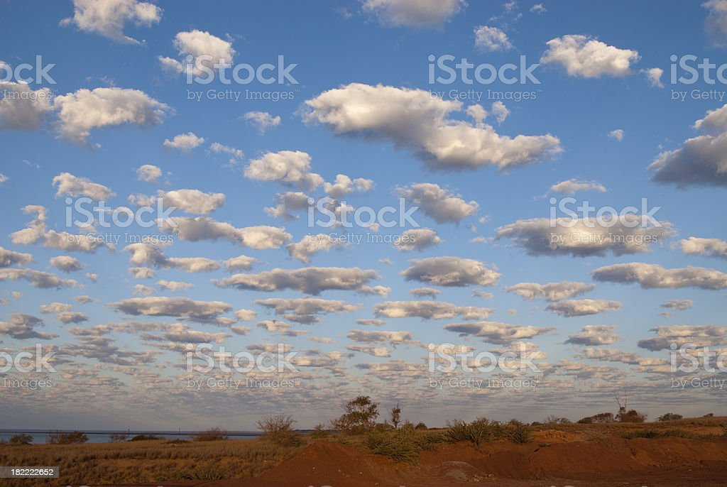 Western Australian Cloudscape stock photo