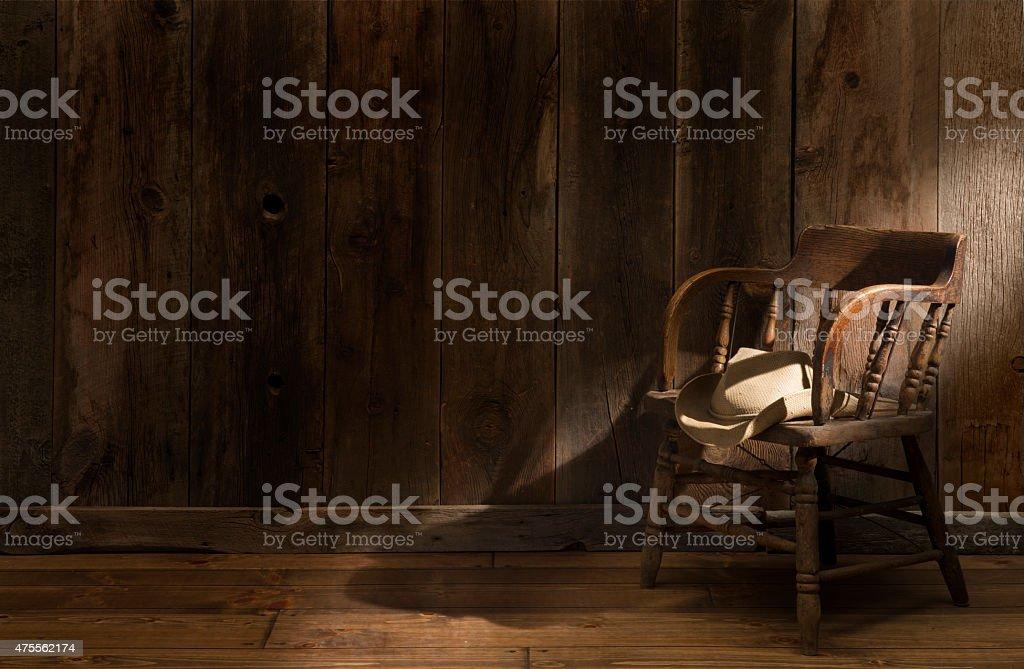 Western background theme with dramatic lighting stock photo