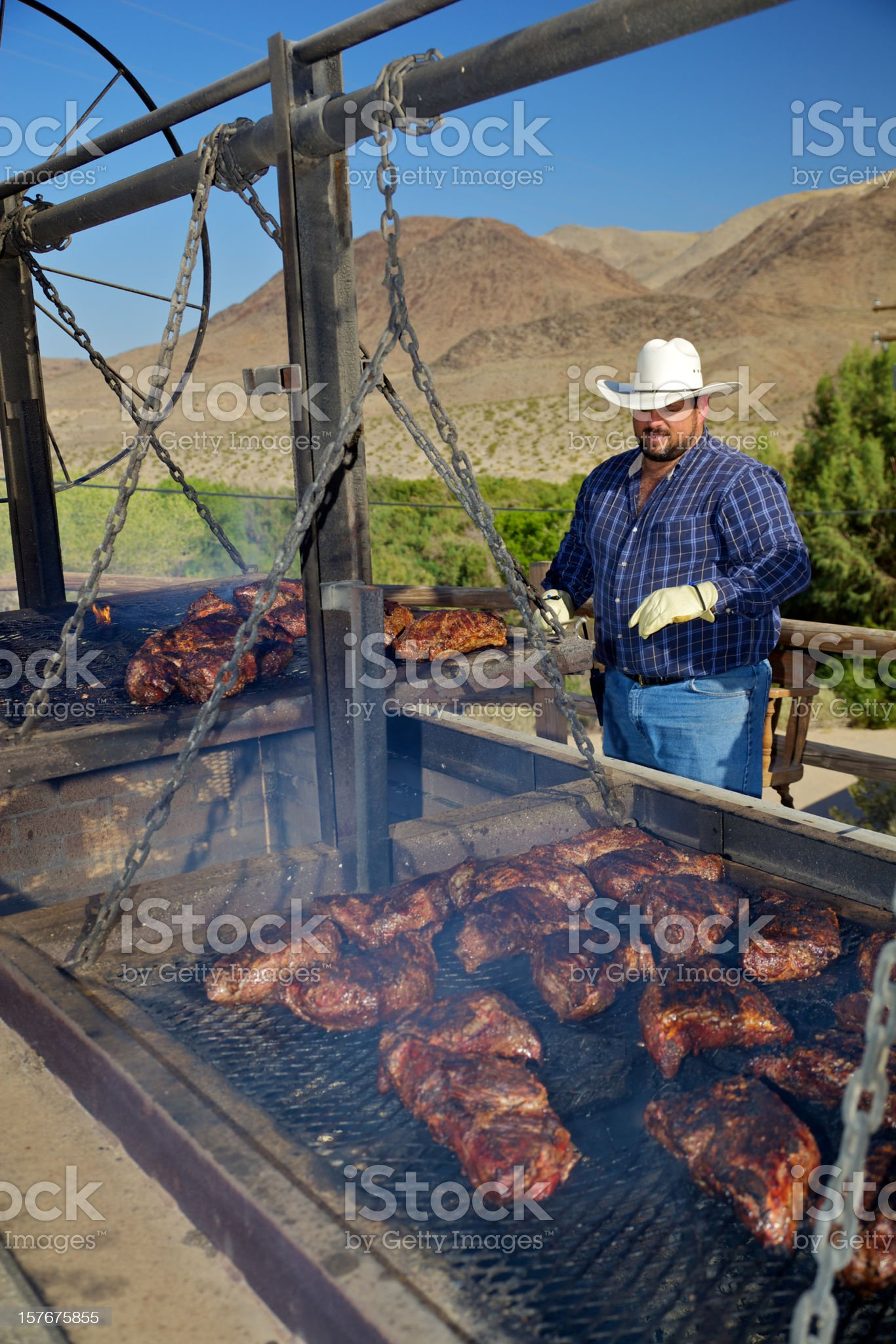 Western BBQ Chef royalty-free stock photo