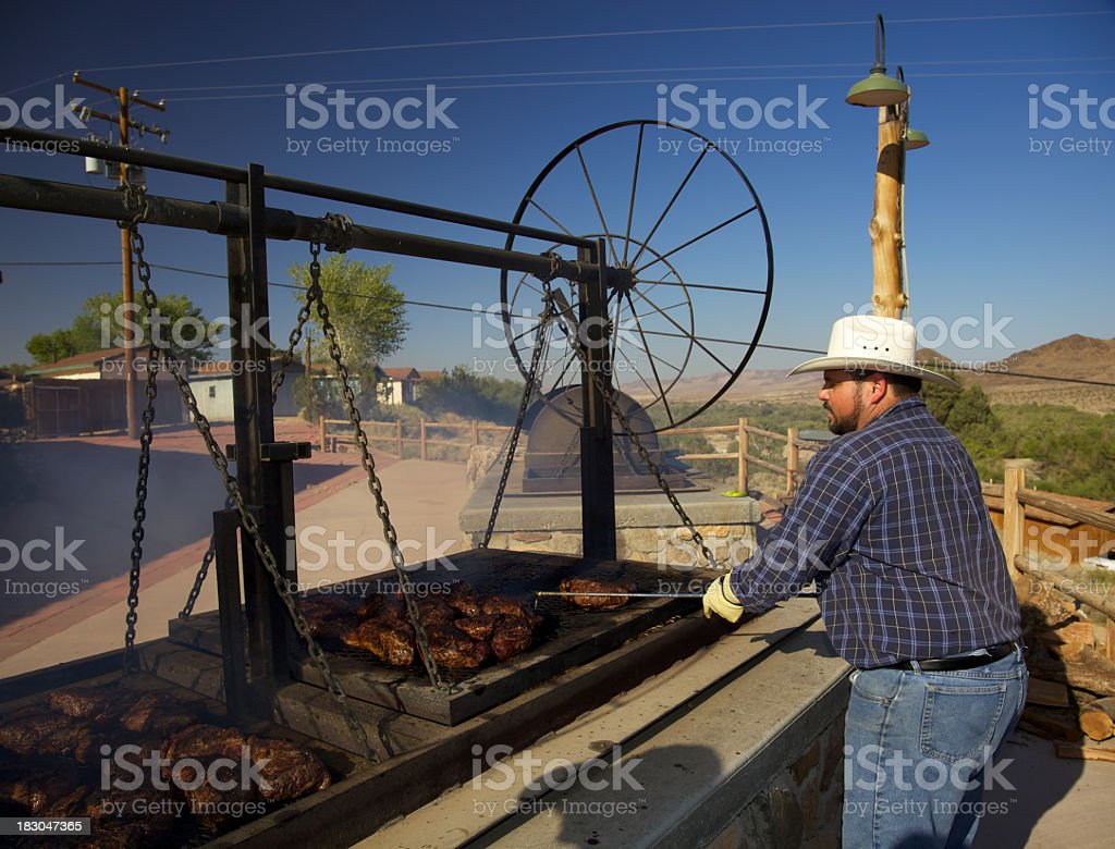 Western BBQ Cooking Beef royalty-free stock photo