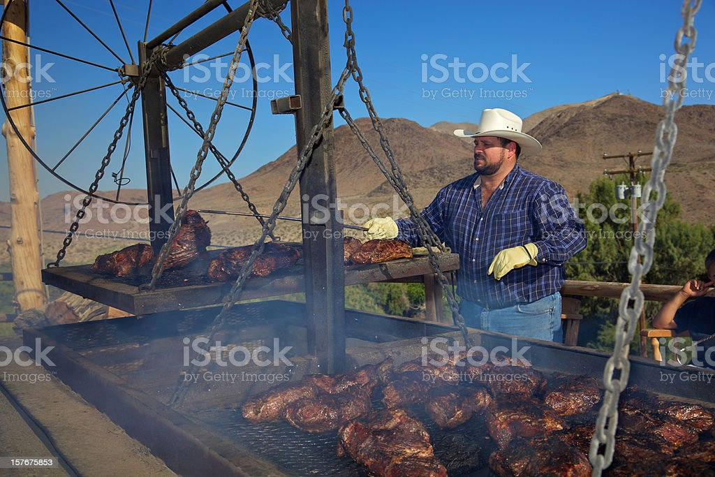 Western Chef of Tri Tip Beef royalty-free stock photo