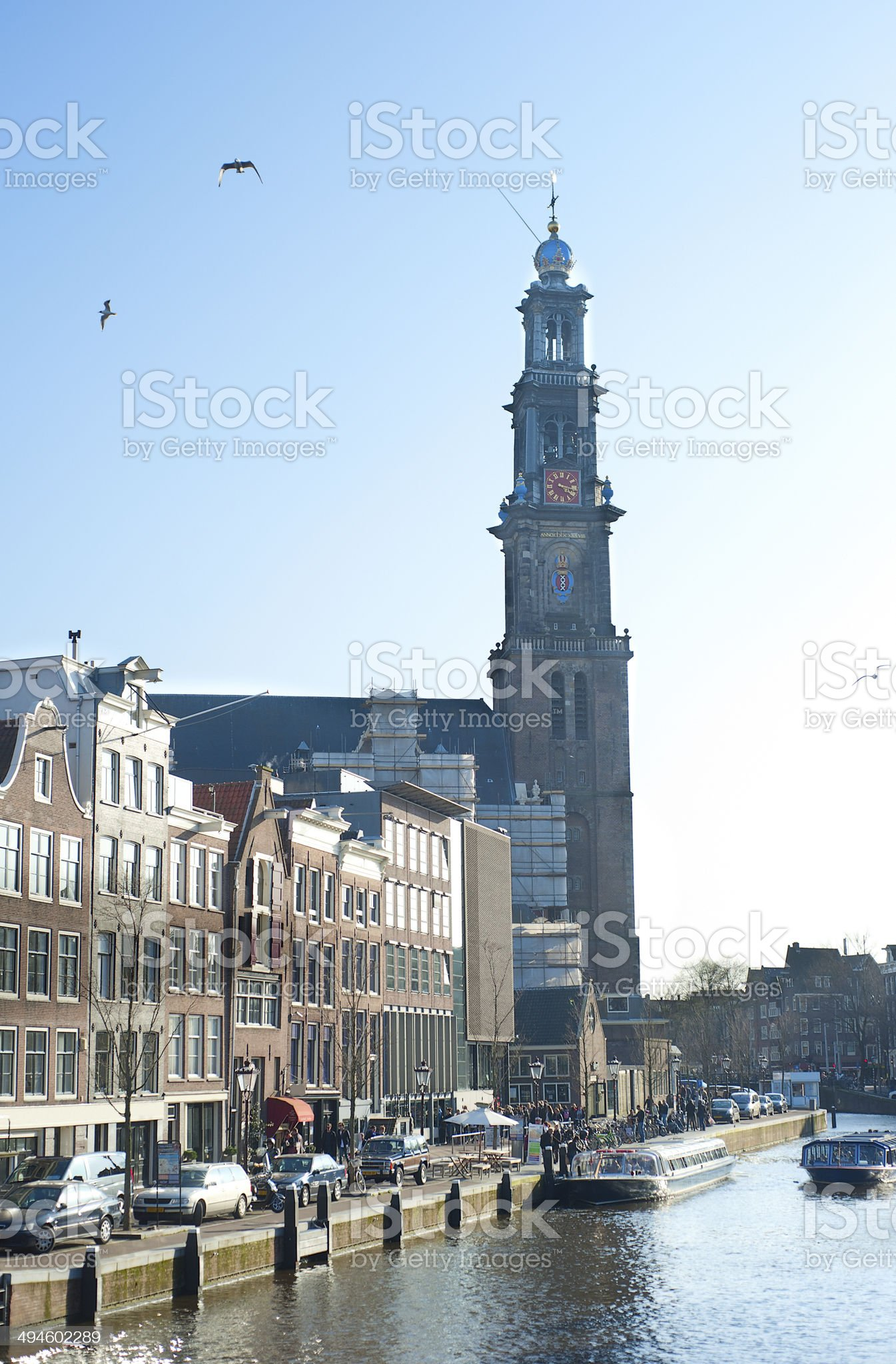 Western Church, Amsterdam royalty-free stock photo
