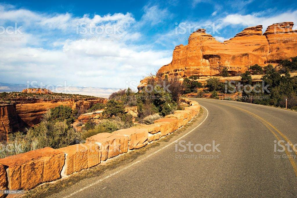 Western Colorado Landscape stock photo