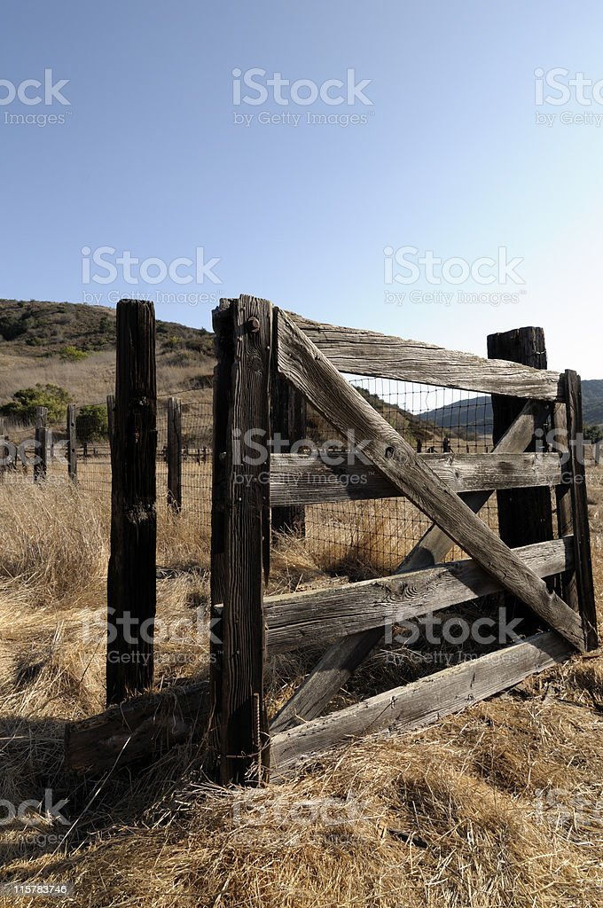 Western Corral Gate stock photo
