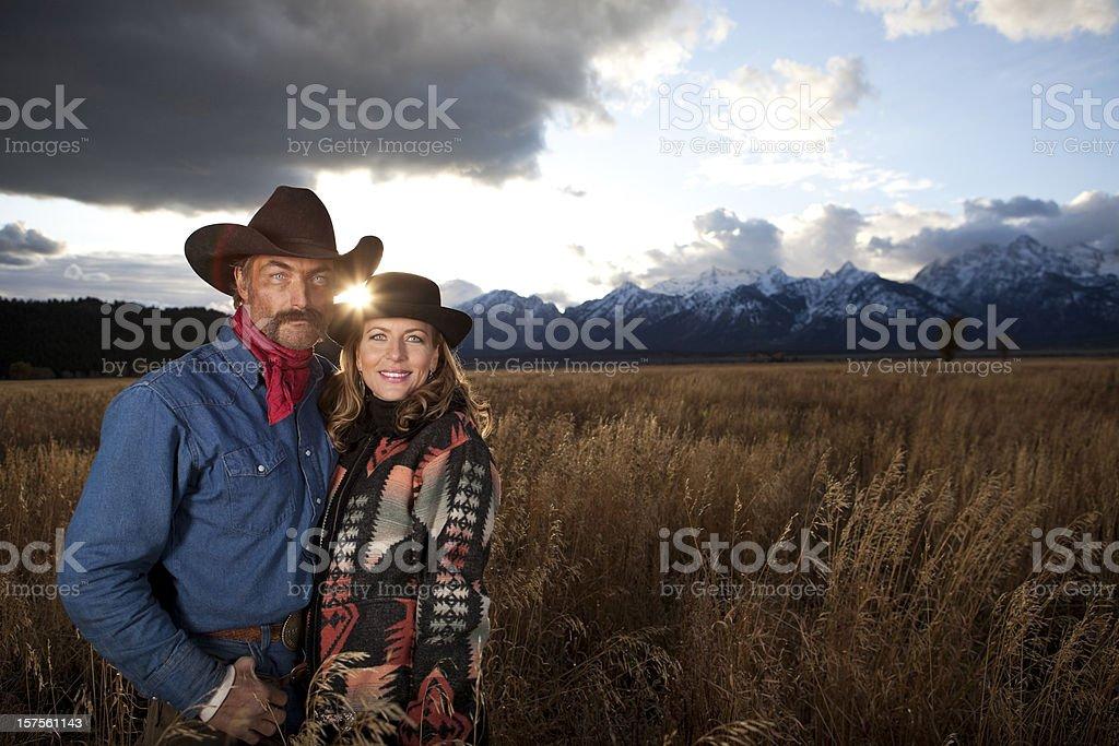 Western Couple royalty-free stock photo
