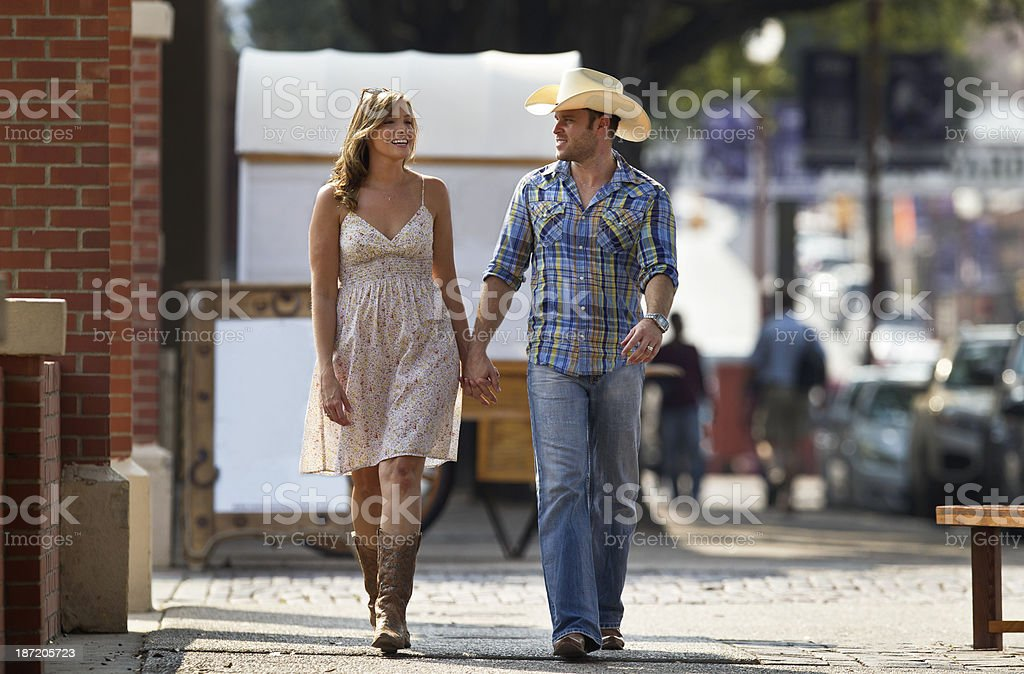 Western Couple stock photo