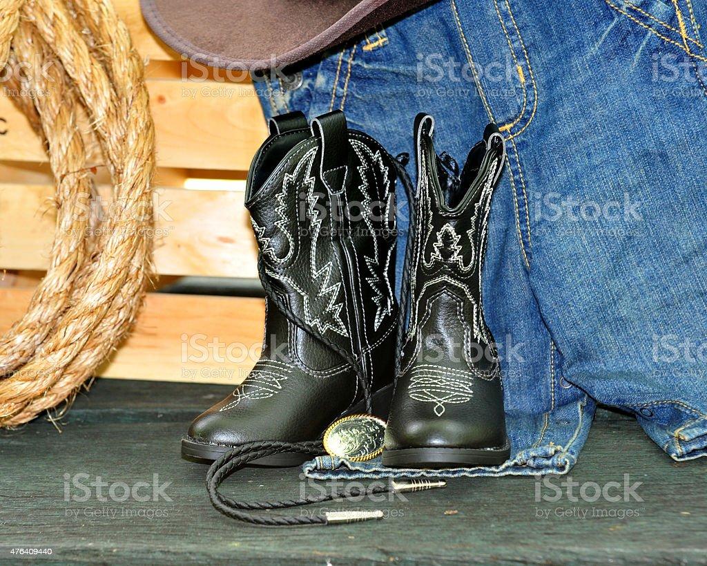 western cowboy stock photo