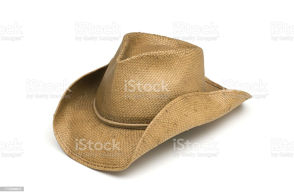Western Cowboy Work Hat-isolated on white stock photo
