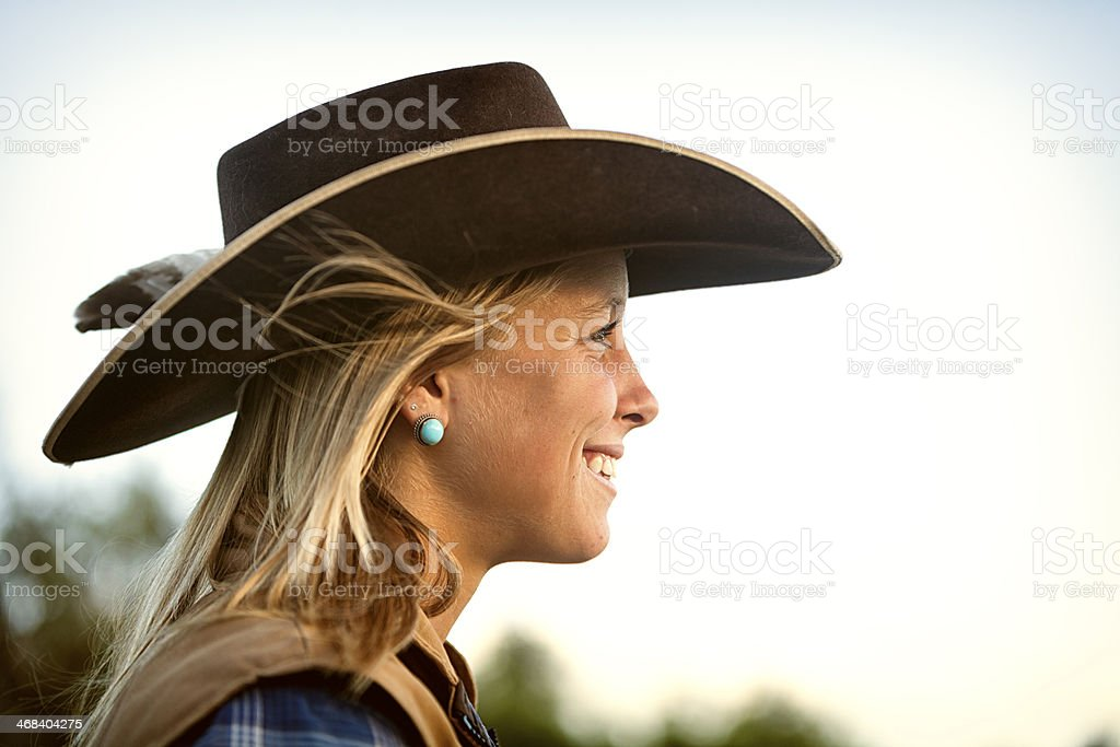 Western Cowgirl Portrait stock photo