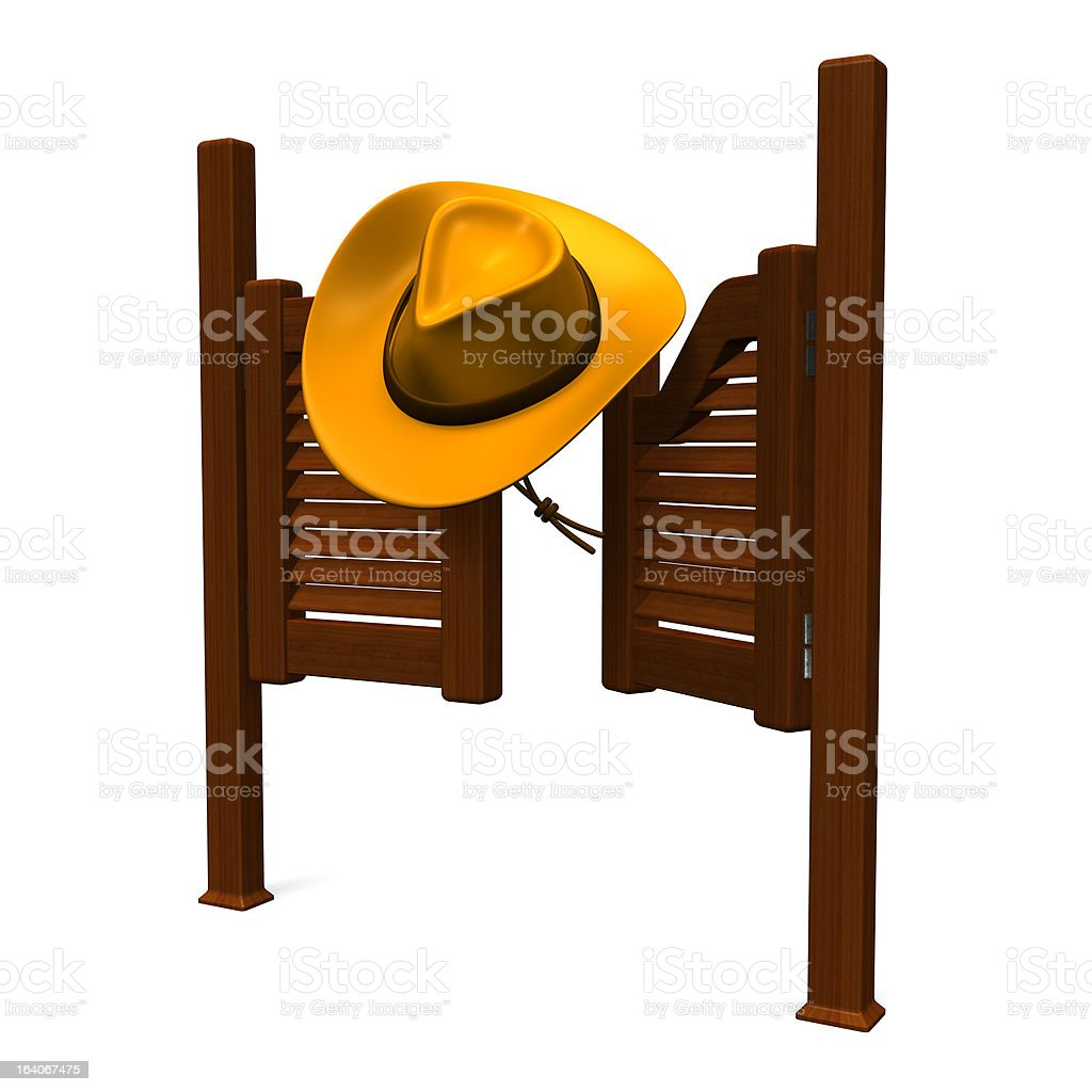 Western Door And Hat royalty-free stock photo