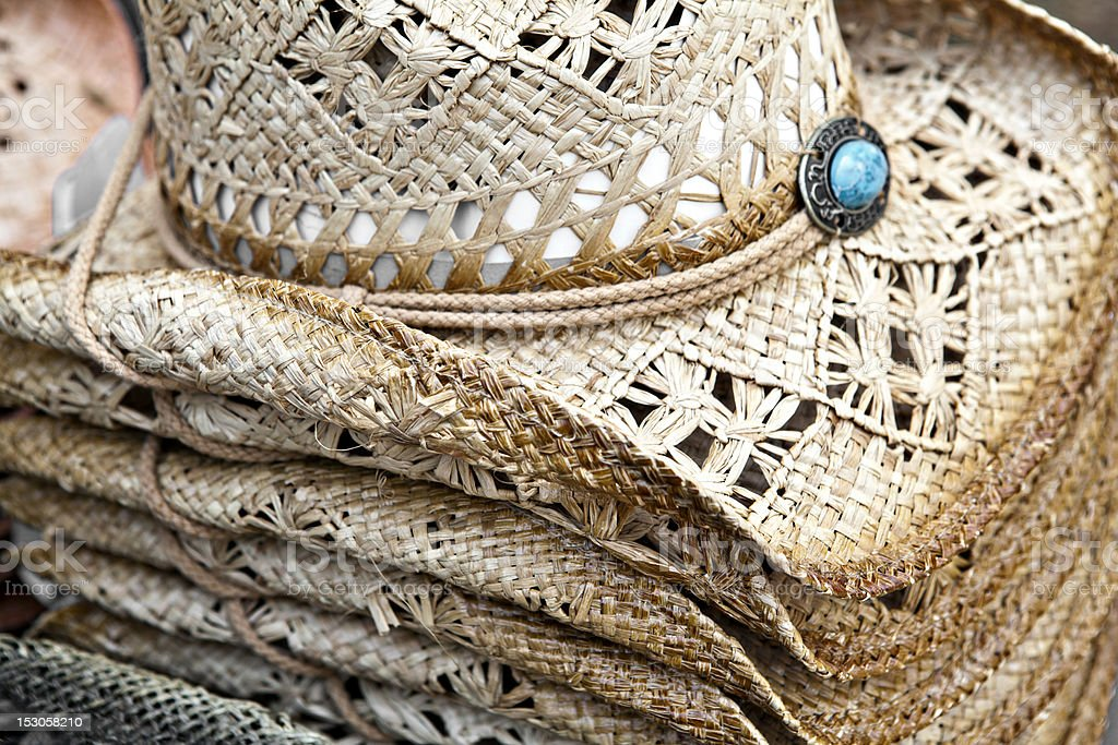 western fashion cowboy hats royalty-free stock photo