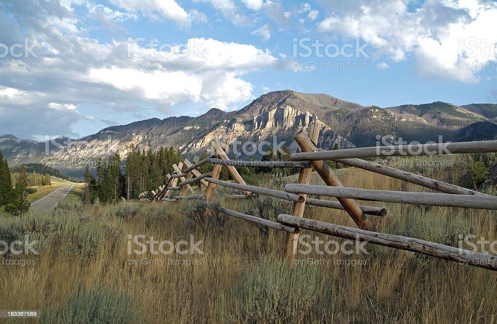 Western Fence royalty-free stock photo
