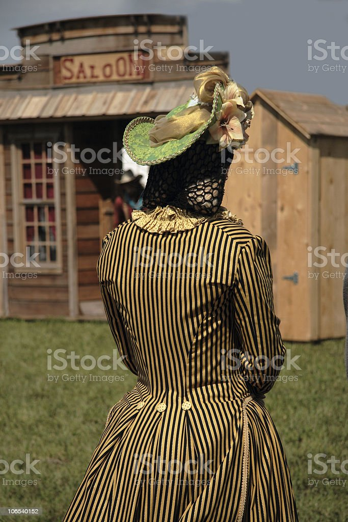Western gal royalty-free stock photo