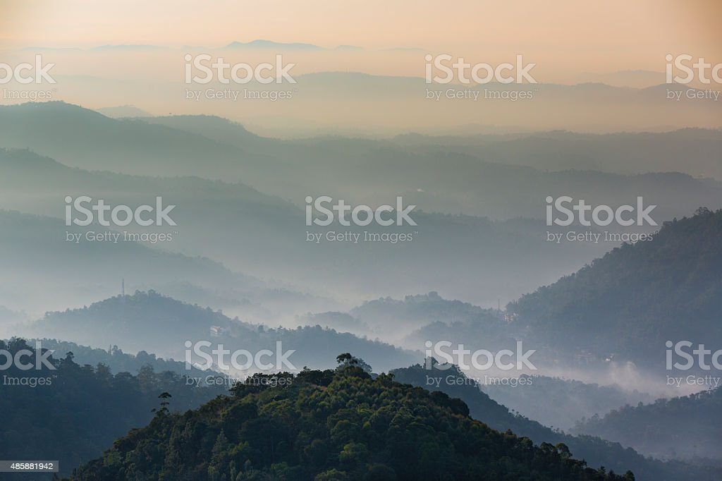 Western Ghats from National Highway 49, Kerala, India stock photo