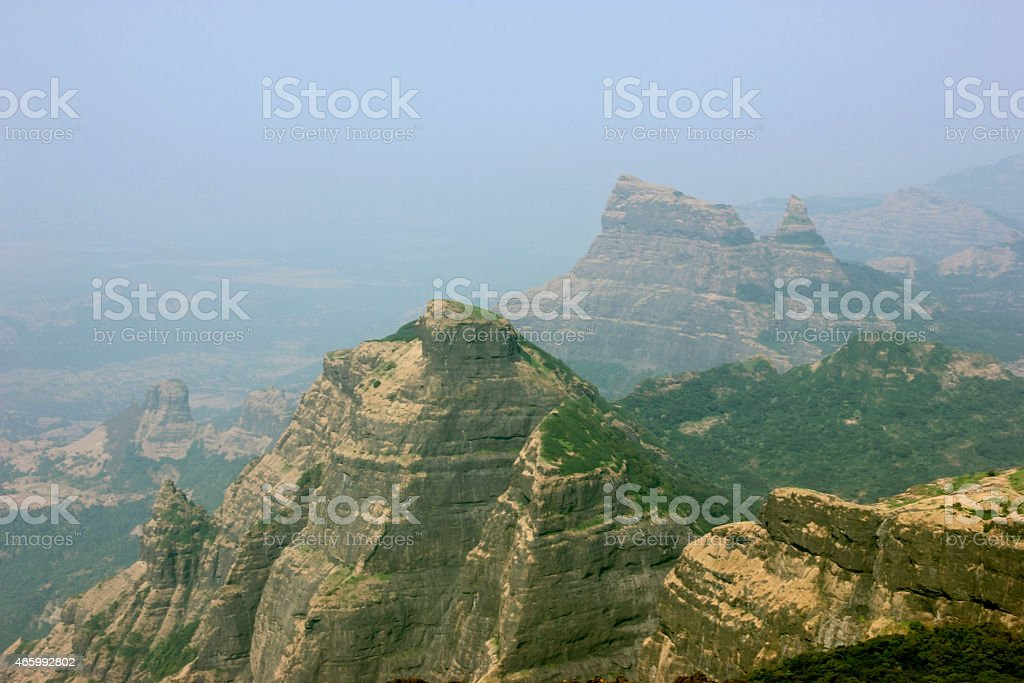 Western ghats hill range stock photo