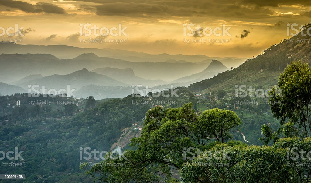 Western Ghats mountains stock photo