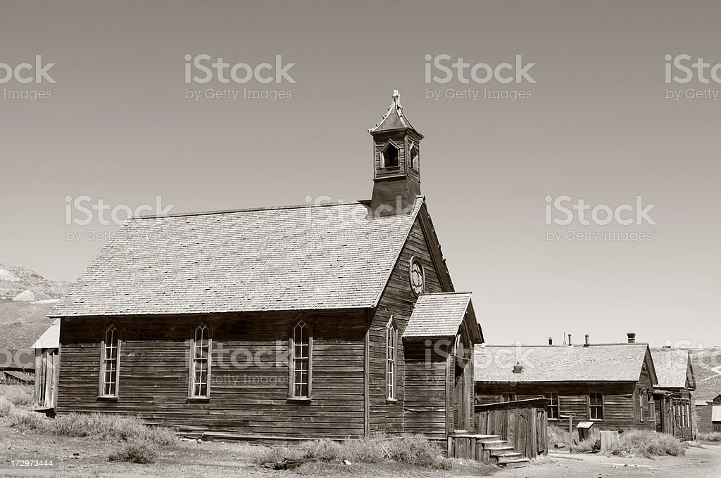Western Ghost Town royalty-free stock photo