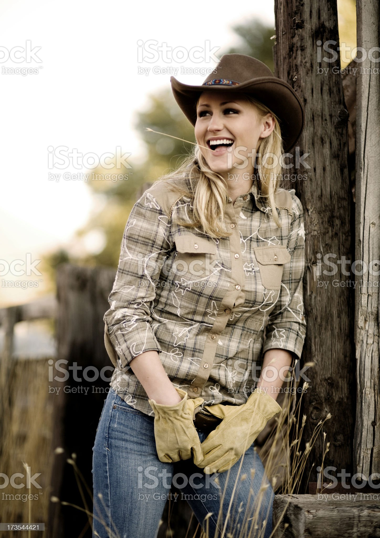 Western Girl royalty-free stock photo