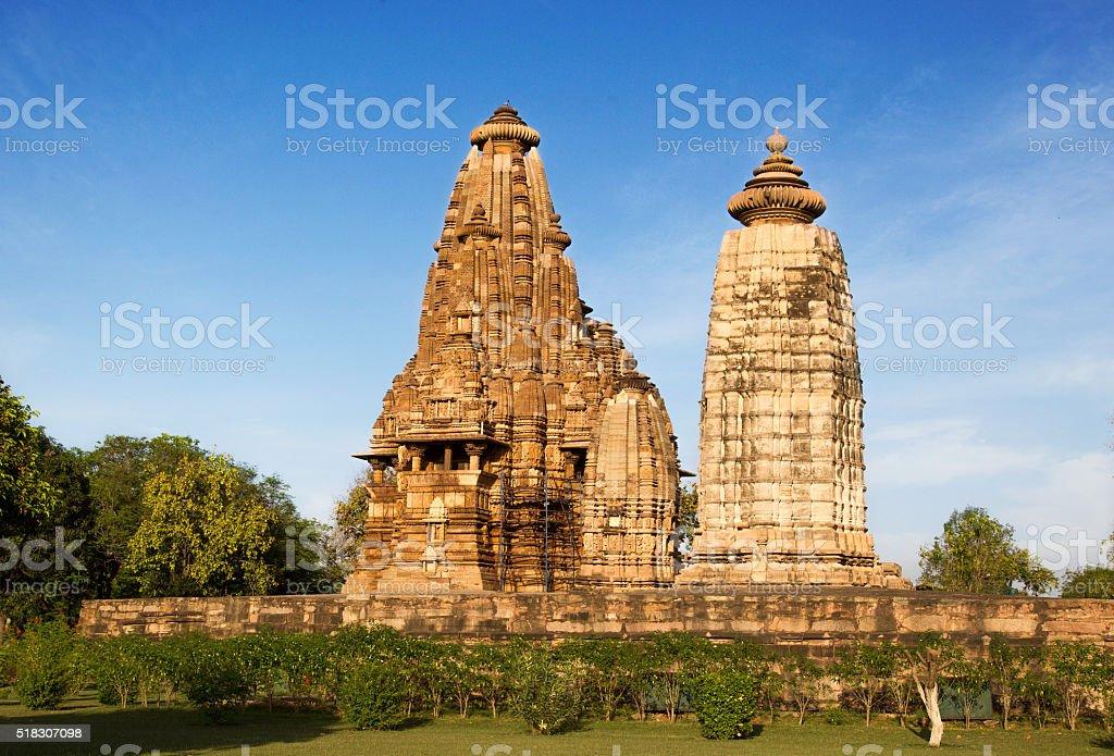 Western Group of Temples, Khajuraho, India stock photo