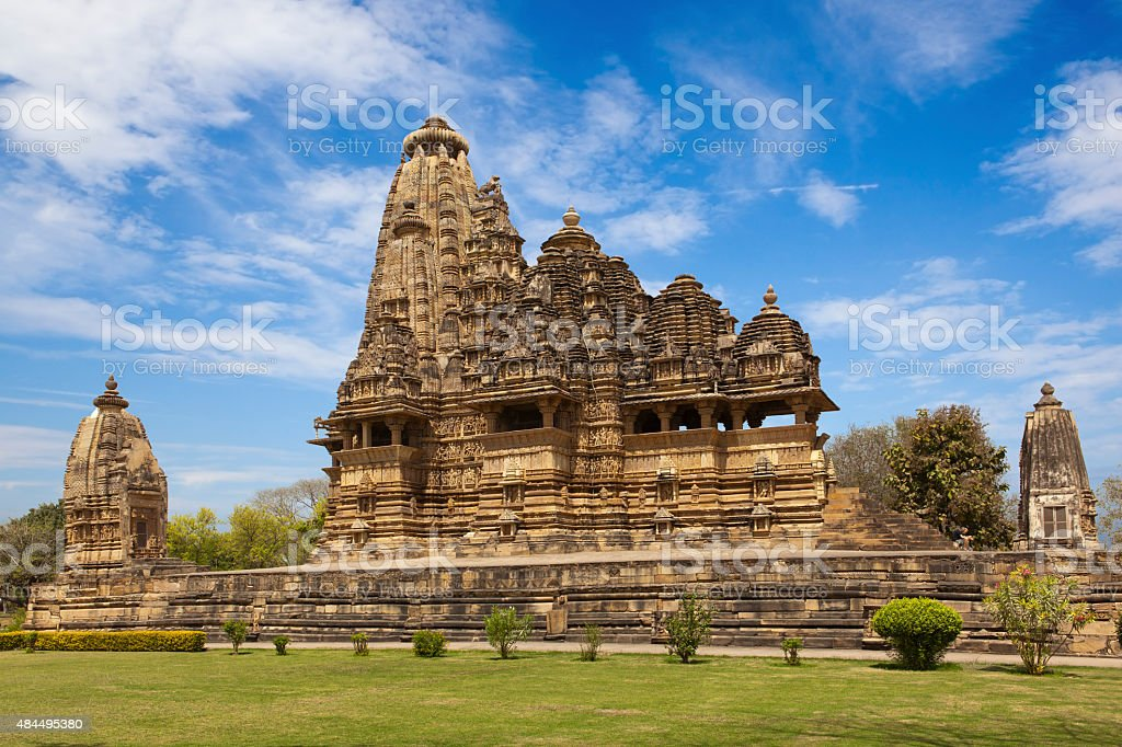 Western Group of temples of Khajuraho stock photo